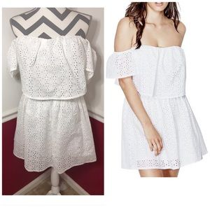 *SOLD* Guess Sondra off shoulder eyelet dress
